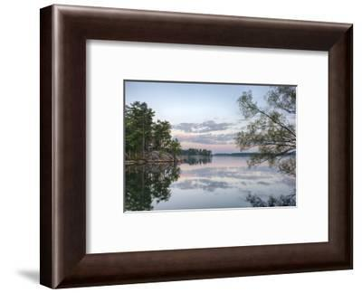 USA, New York State. Calm summer morning on the St. Lawrence River, Thousand Islands.-Chris Murray-Framed Photographic Print