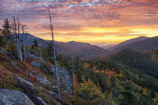 USA, New York State. Sunrise on Mount Baxter in autumn, Adirondack Mountains.-Chris Murray-Premium Photographic Print