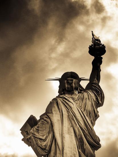 USA, New York, Statue of Liberty-Alan Copson-Photographic Print