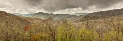USA, North Carolina, Cherokee, Panoramic View from the Blue Ridge Parkway-Ann Collins-Photographic Print