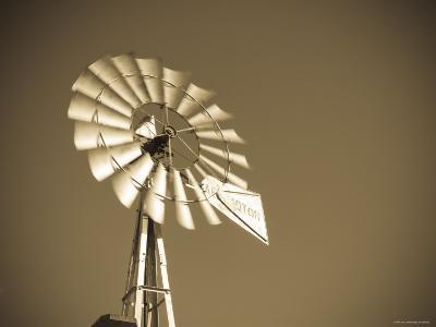 USA, Oklahoma, Windpumps and Windmill-Alan Copson-Photographic Print