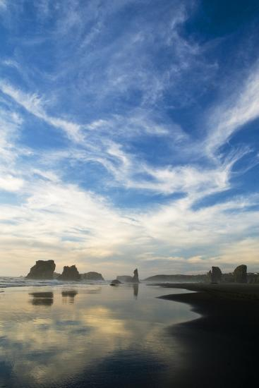 USA, Oregon, Bandon Beach. Sea Stacks at Twilight-Jaynes Gallery-Photographic Print