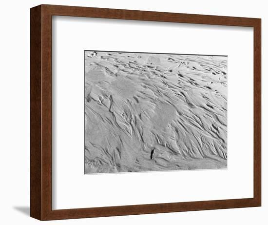 USA, Oregon, Manzanita. Black and white of beach sand patterns.-Jaynes Gallery-Framed Photographic Print