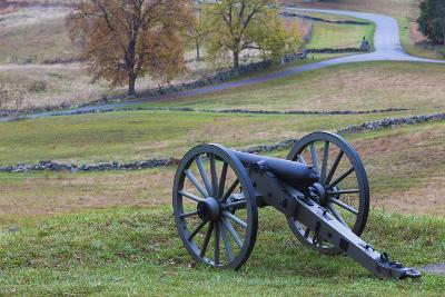 USA, Pennsylvania, Gettysburg, Battle of Gettysburg, Civil War Cannon-Walter Bibikow-Photographic Print