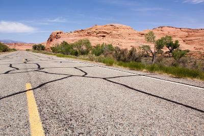 USA, San Rafael Desert, Highway-Catharina Lux-Photographic Print