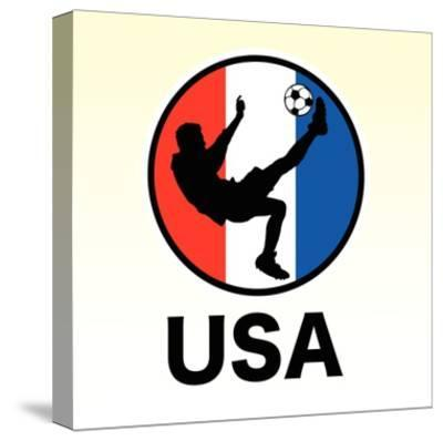 USA Soccer--Stretched Canvas Print