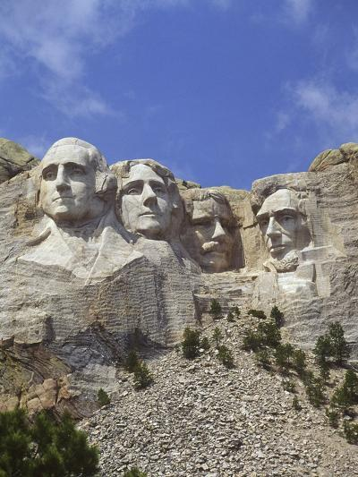 USA, South Dakota , Mount Rushmore Stone Carvings of US Presidents, George Washington, Thomas Jeffe-Chris Cheadle-Photographic Print