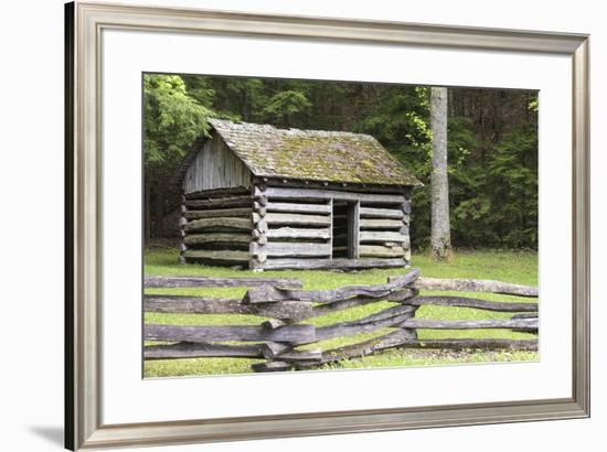 USA, Tennessee. Cades Cove, Great Smoky Mountain National Park Historic building Tipton Oliver blac-Trish Drury-Framed Photographic Print