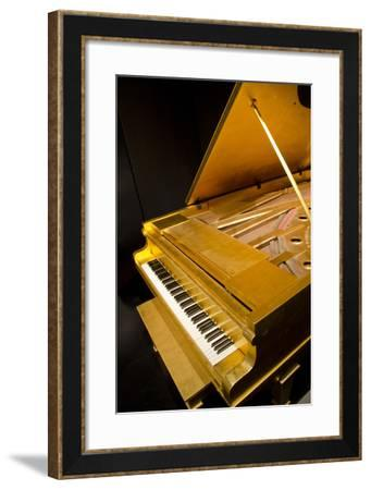 USA, Tennessee, Nashville. Elvis Presley's 24k gold covered piano.-Cindy Miller Hopkins-Framed Photographic Print