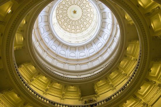 USA, Texas, Austin. The Capitol Building with the Goddess of Liberty.-Randa Bishop-Photographic Print