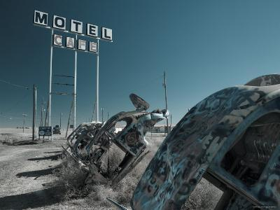 USA, Texas, Route 66, Conway Bug Ranch, Made of VW Beetles-Alan Copson-Photographic Print