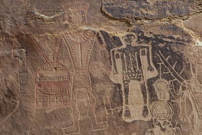 Usa Three Kings Petroglyph, Dinosaur National Monument-Judith Zimmerman-Photographic Print
