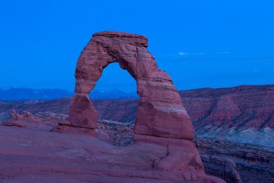USA, Utah, Arches National Park, Delicate Arch, Dusk-Catharina Lux-Photographic Print