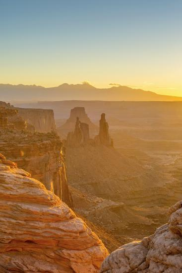 Usa, Utah, Canyonlands National Park, Island in the Sky District, View from Mesa Arch, Sunrise-Alan Copson-Photographic Print