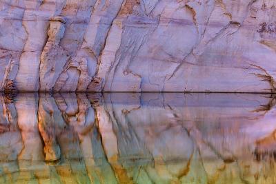USA, Utah, Glen Canyon Nra. Abstract Reflection of Sandstone Wall-Jaynes Gallery-Photographic Print