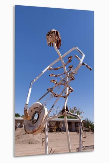 USA, Utah, Highway 24, Deserted Place, Metal Figures-Catharina Lux-Metal Print