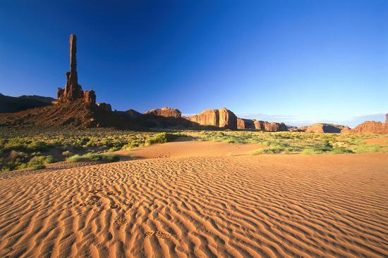"""USA, Utah, Monument Valley, Rock-Formation, """"Totem Poles-Frank Lukasseck-Photographic Print"""