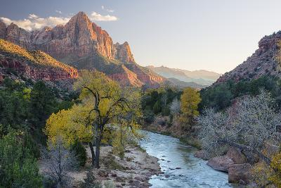 USA, Utah, Zion National Park, Virgin River and the Watchman-Jamie & Judy Wild-Photographic Print