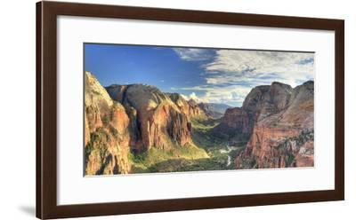 USA, Utah, Zion National Park, Zion Canyon from Angel's Landing-Michele Falzone-Framed Photographic Print