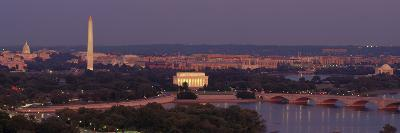 USA, Washington DC, Aerial, Night--Photographic Print