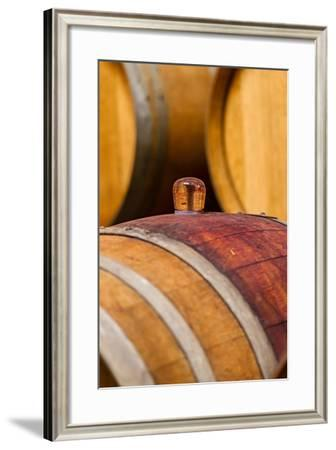 USA, Washington, Leavenworth. Glass Bung in Barrel Cellar-Richard Duval-Framed Photographic Print