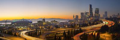 USA, Washington. Seattle Skyline Near the 12th Street Bridge-Gary Luhm-Photographic Print