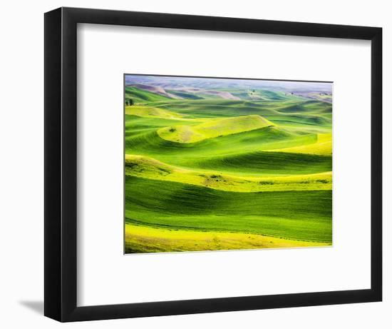 USA, Washington State. Aerial of Palouse Region.-Terry Eggers-Framed Photographic Print