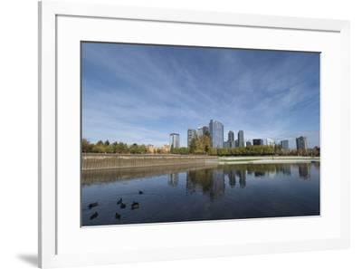 USA, Washington State, Bellevue. Downtown Park and skyline.-John & Lisa Merrill-Framed Photographic Print