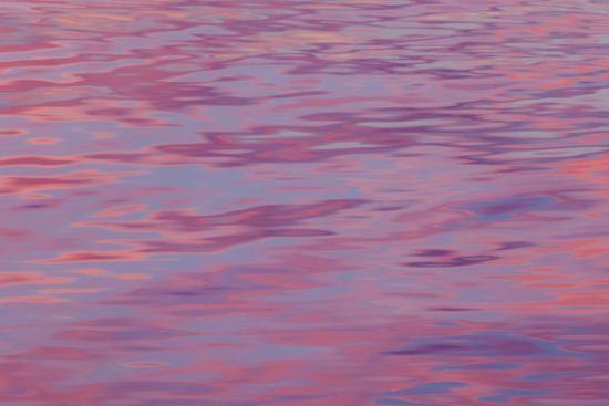 USA, Washington State, Hood Canal. Sunset Reflections on Water-Don Paulson-Photographic Print