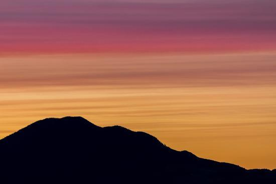 USA, Washington State, Seabeck. Sunset over Mount Walker.-Jaynes Gallery-Photographic Print