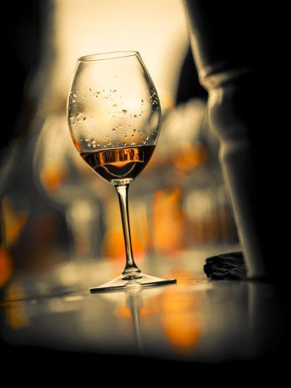 USA, Washington State, Seattle. Wine glass reflecting light-Richard Duval-Photographic Print