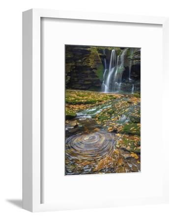 USA, West Virginia, Blackwater Falls State Park. Waterfall and whirlpool scenic.-Jaynes Gallery-Framed Photographic Print