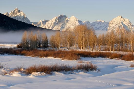 USA, Wyoming, Grand Tetons National Park. Oxbow Bend in Winter-Jaynes Gallery-Photographic Print