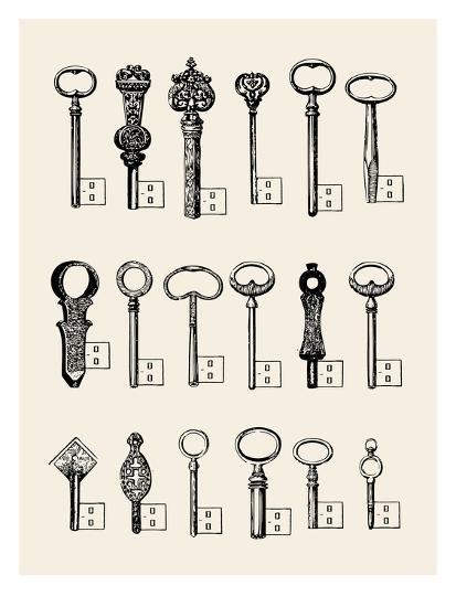 Usb Keys-Florent Bodart-Art Print