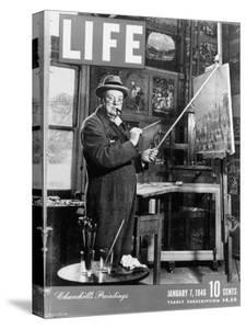 Used Life Cover 1-7-1946 of England's Prime Minister Winston Churchill Painting a Picture