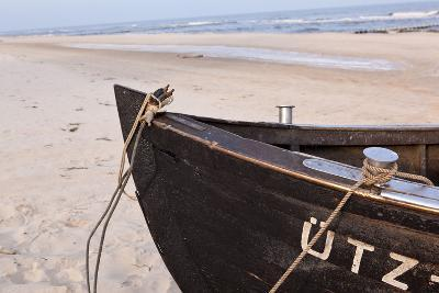 Usedom, Baltic Sea, Beach, Fishing Boat-Catharina Lux-Photographic Print