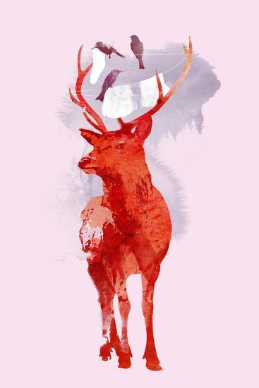 Useless Deer-Robert Farkas-Art Print