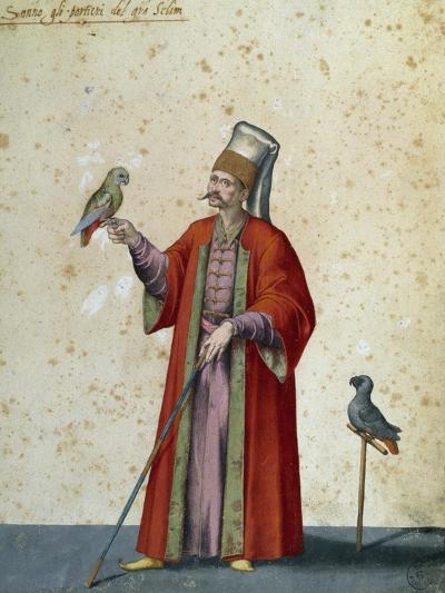 Usher to Great Selim with Parrots-Jacopo Ligozzi-Giclee Print