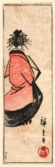 Ushiro Muki Oiran Zu-Utagawa Hiroshige-Giclee Print