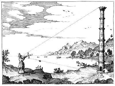 Using a Cross-Staff to Measure the Height of a Tower, 1617-1619--Giclee Print
