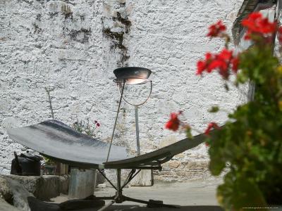Using Solar Panel to Cook, Sera Temple, Lhasa, Tibet, China-Keren Su-Photographic Print