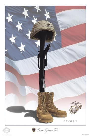 USMC Some Gave All-Marc Wolfe-Giclee Print
