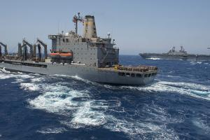 USNS Patuxent Conducts a Replenishment at Sea with USS Kearsarge