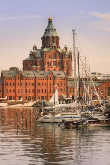 Uspenski Cathedral and Helsinki Harbor-Jon Hicks-Photographic Print
