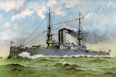Uss 'Alabama, American Battleship, 1898--Giclee Print