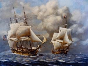 USS Constellation Defeats L'Insurgente During Undeclared War with France, 1799
