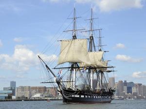 USS Constitution in the Boston Harbor