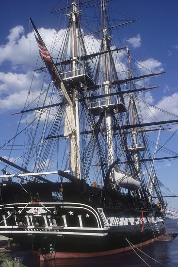 """USS Constitution """"Old Ironsides"""" Docked in Boston--Photographic Print"""
