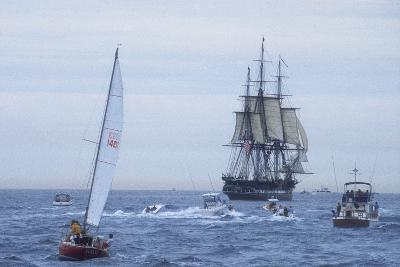 "USS Constitution ""Old Ironsides"" Under Sail, Massachusetts Bay, Celebrating Its Bicentennial, 1997--Photographic Print"