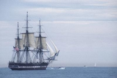 "USS Constitution ""Old Ironsides"" Under Sail, Massachusetts Bay, Celebrating Its Bicentennial, 1997"